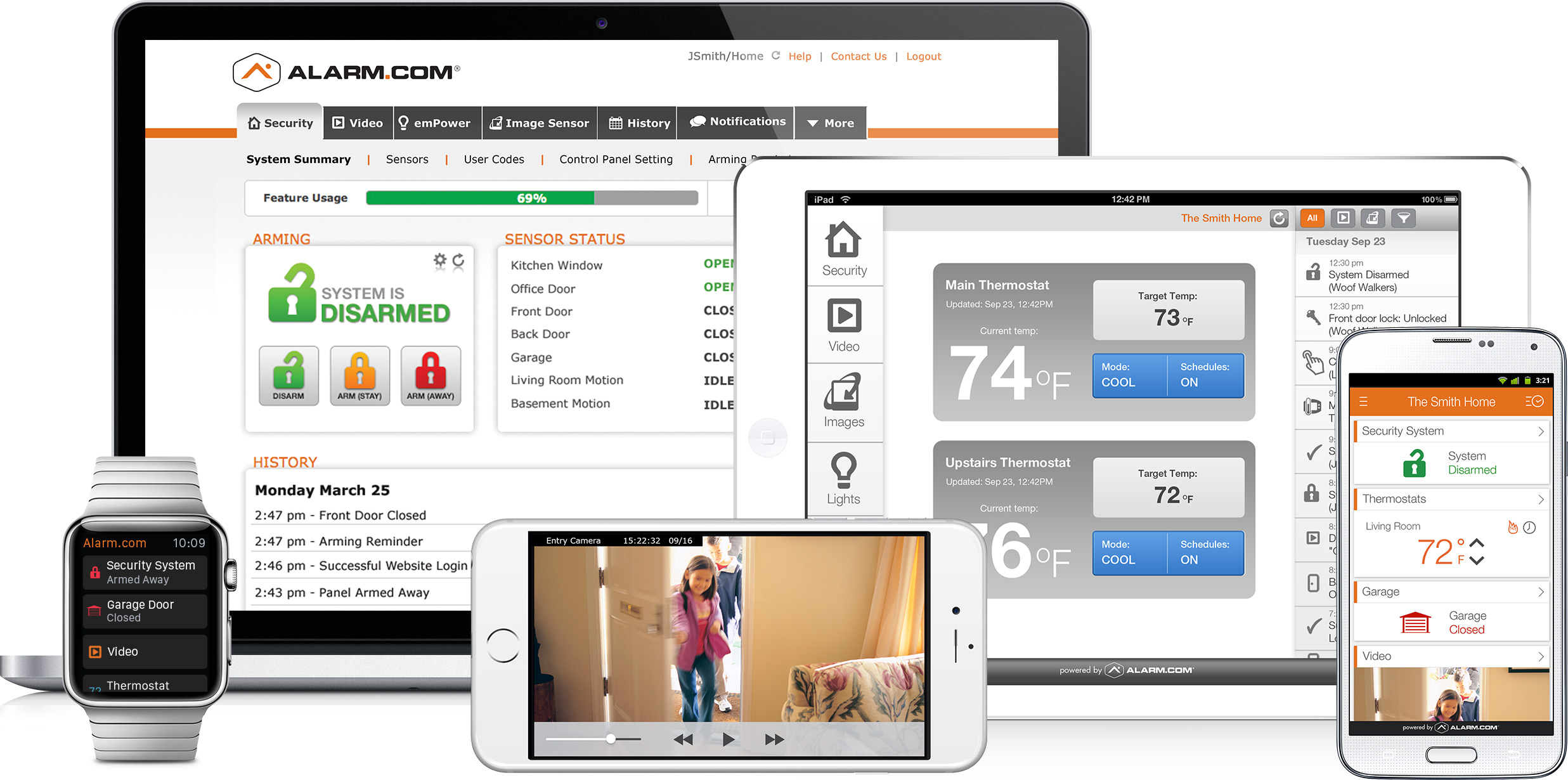 Security App Alarm System Control Prices Alarms
