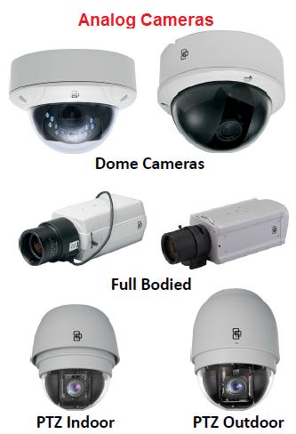 Analog dome cameras