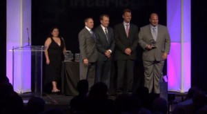 Price's Alarms winning dealer of the year award